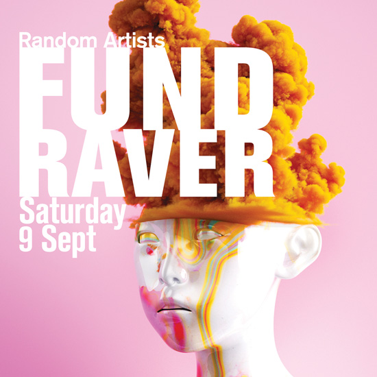 Random Artists FundRaver flyer front