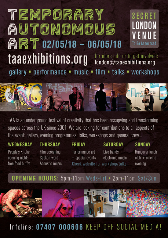 TAA London 2018 flyer back