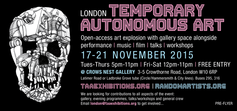 TAA London 17-21 November 2015 pre-flyer for web